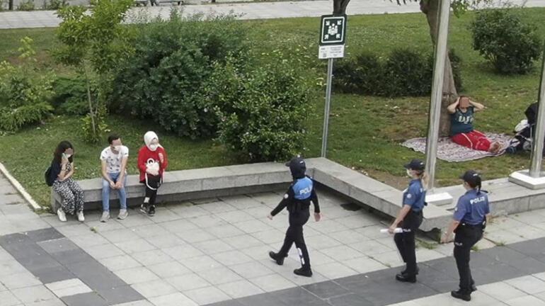 Düzcede maskesiz şekilde dronea el salladılar, cezadan kurtulamadılar