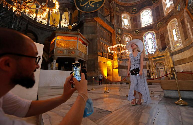 Son dakika... Dünya Türkiyeye kilitlendi, ilk fotoğraflar geldi Ayasofya kararı...