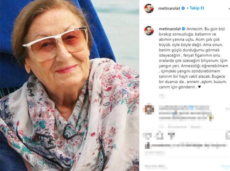 Son dakika: Metin Arolatın annesi hayatını kaybetti