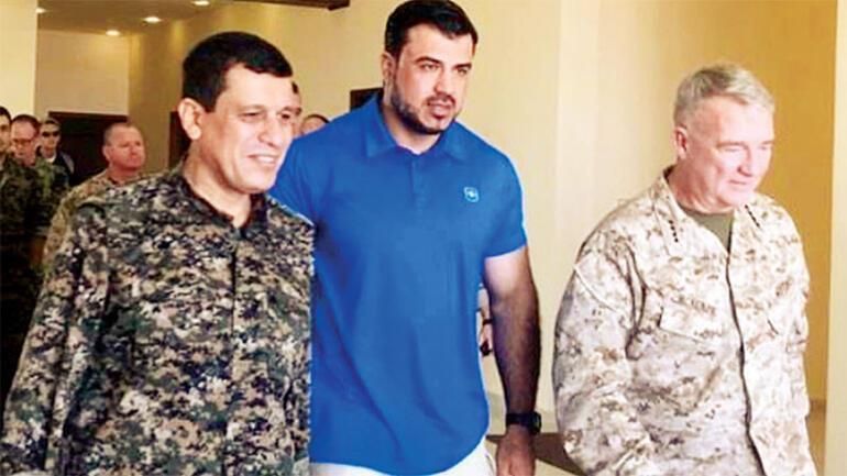 Son dakika ABDli komutan yine terörist Abdi ile görüştü