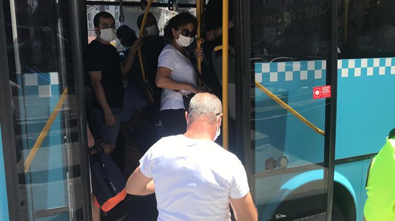 İstanbulda otobüsten 48 yolcu çıktı
