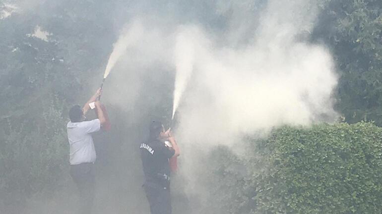 Silivride hastane yakınında yangın Hastalar dışarı çıkarıldı