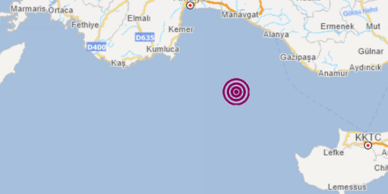 Son dakika Antalyada korkutan deprem