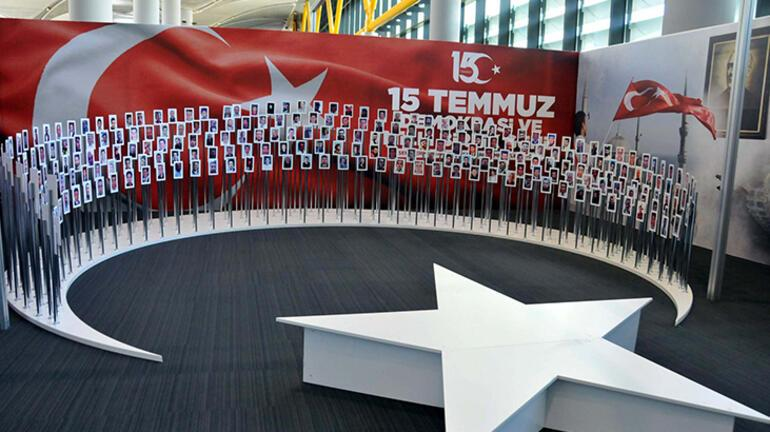 İstanbul Havalimanında 15 Temmuz sergisi