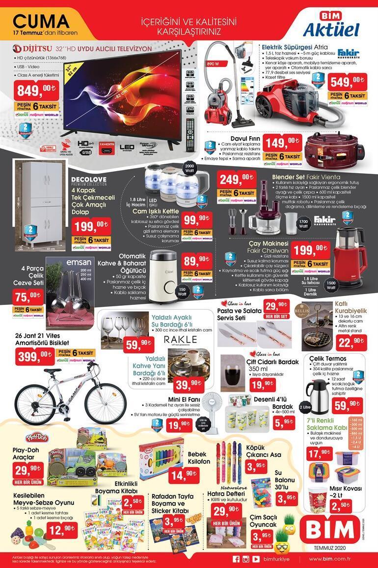 BİM aktüel ürünler kataloğunda yer alan ürünler satışta (17 Temmuz Cuma) BİM saat kaçta açılıyor/kapanıyor
