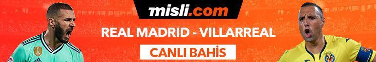 Real Madrid - Villarreal maçı Tek Maç ve Canlı Bahis seçenekleriyle Misli.com'da
