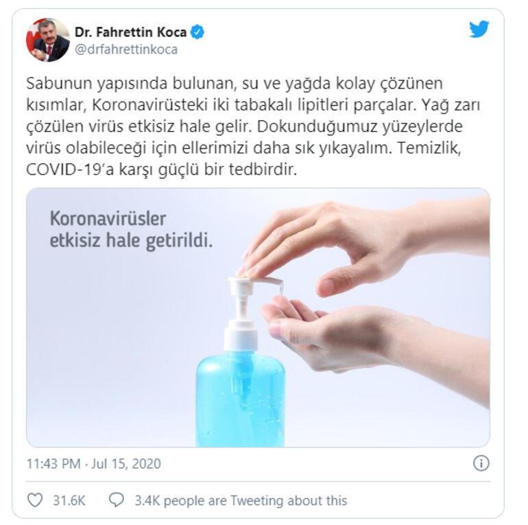 Sağlık Bakanı Kocadan temizlik uyarısı