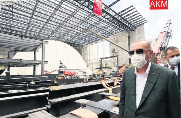 Erdoğan Ayasofya'daki çalışmaları inceledi