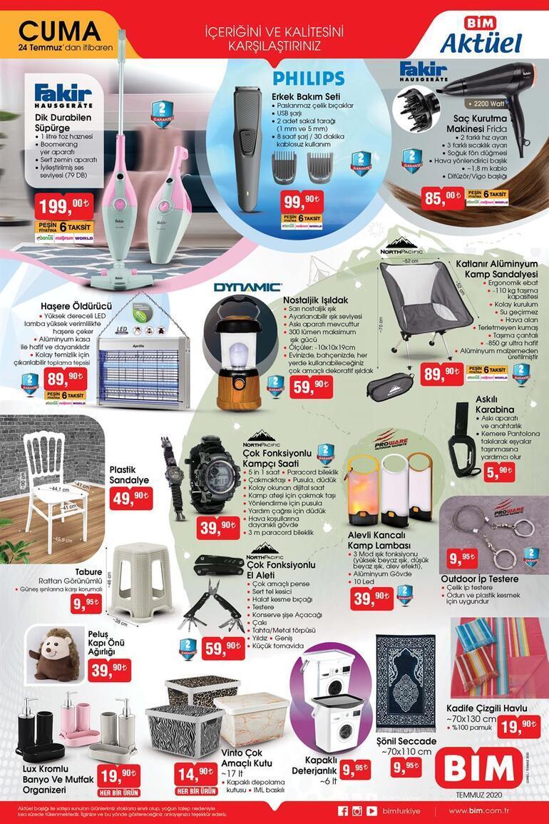 BİMde bugün hangi ürünler satışa sunuldu & 24 Temmuz BİM aktüel kataloğu...