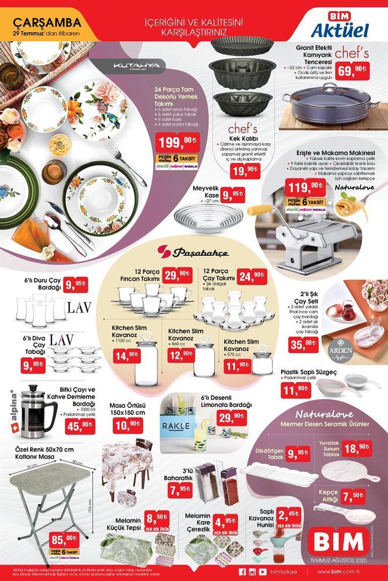 BİM aktüel kataloğunda yer alan ürünler satışta 28-29 Temmuz BİM aktüel ürünler kataloğunda bu hafta neler var