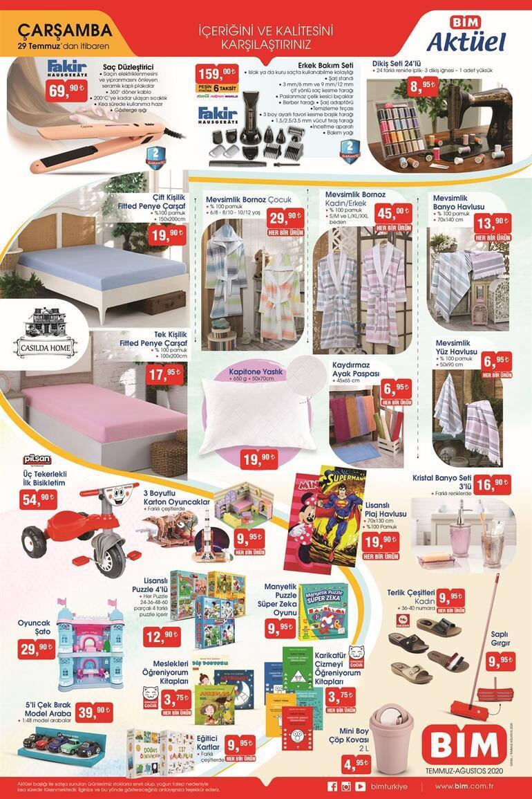 29 Temmuz BİM aktüel kataloğu Onlarca üründe bayram indirimi BİM mağazalarında...