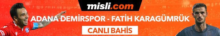 Adana Demirspor - Fatih Karagümrük maçı canlı bahis heyecanı Misli.comda
