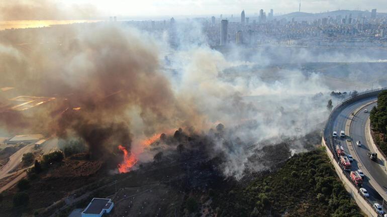 Son dakika... İstanbulda askeri alandaki yangın kontrol altına alındı