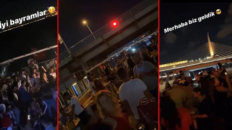 İstanbul Boğazı'nda pes dedirten görüntüler Salgına rağmen yat partileri yapıldı