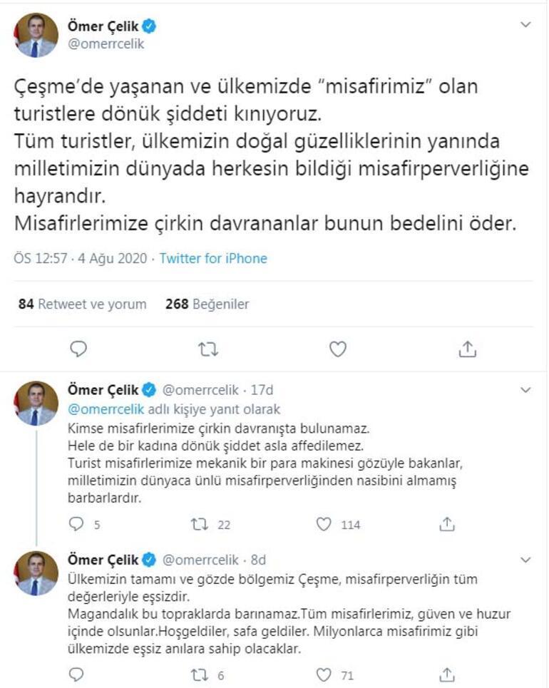 AK Partili Çelik: Çeşmede turistlere dönük şiddeti kınıyoruz