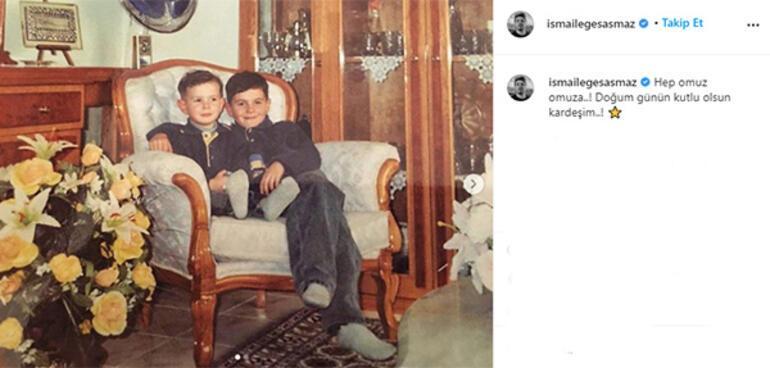 İsmail Ege Şaşmaz kardeşinin doğum gününü kutladı