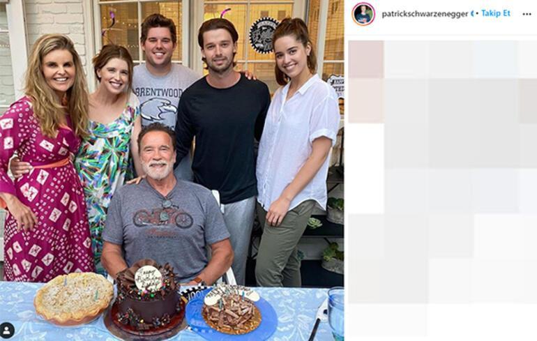Arnold Schwarzenegger doğum gününü eski eşiyle kutladı