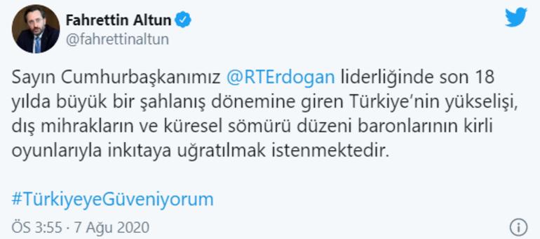 İletişim Başkanlığı'ndan ekonomi mesajı: Türkiye diz çöktürülecek bir ülke değil