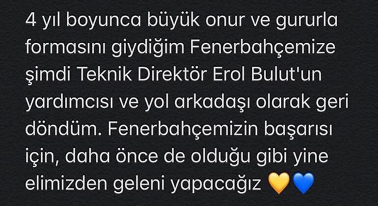 Son dakika | Mehmet Yozgatlı Fenerbahçeye geri döndüğünü açıkladı