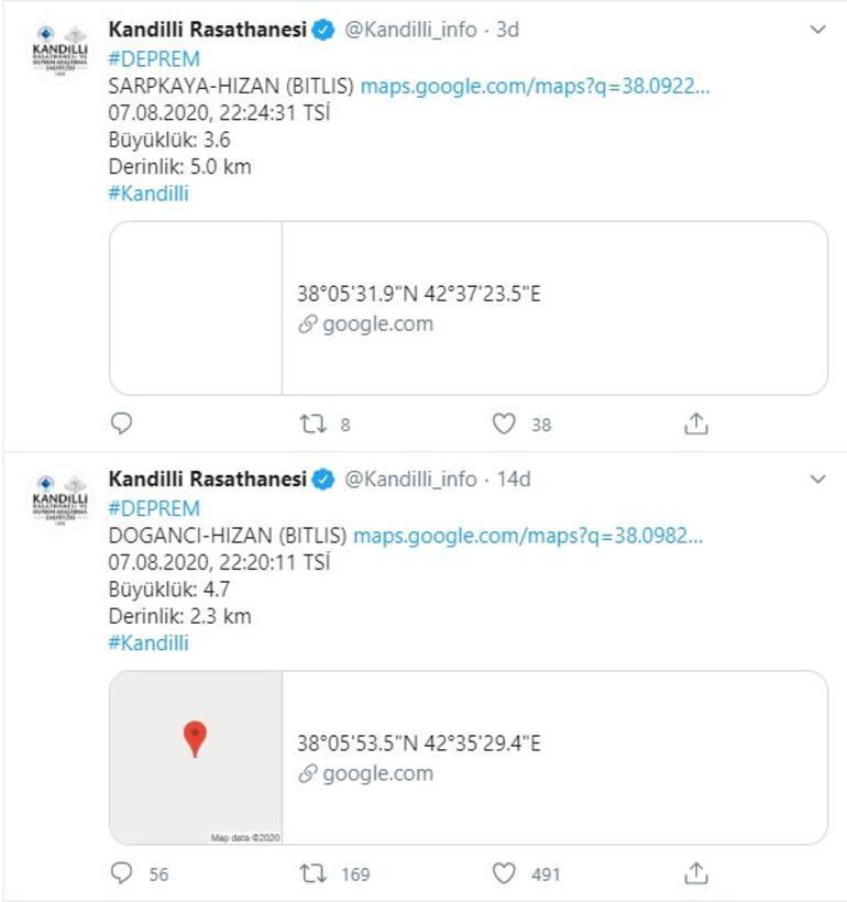 Son dakika haberi: Bitliste şiddetli deprem Büyüklüğü...