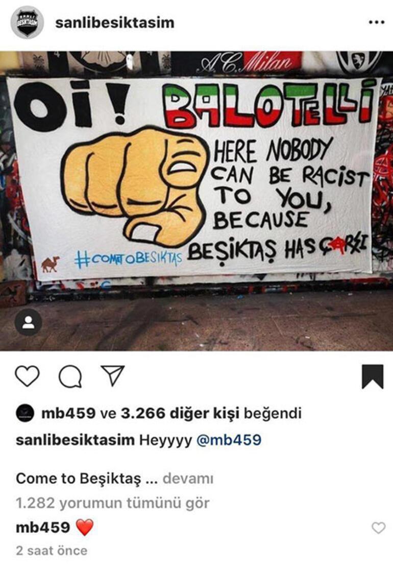 Beşiktaş transfer haberleri | Balotelliden Come to Beşiktaş çağrısına cevap