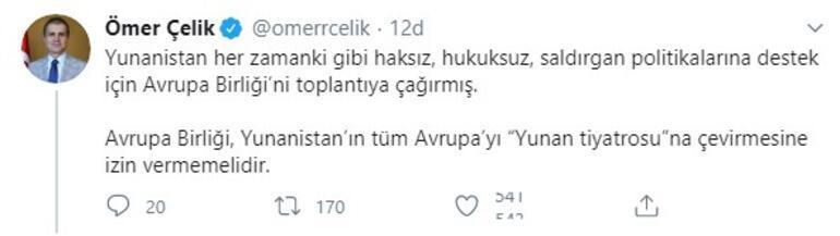 Son dakika... AK Parti Sözcüsü Ömer Çelikten Avrupa Birliğine çağrı