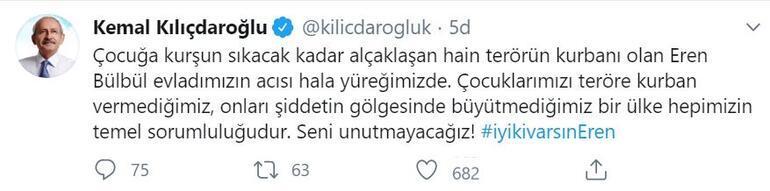 Kılıçdaroğlu: Eren Bülbül evladımızın acısı hala yüreğimizde