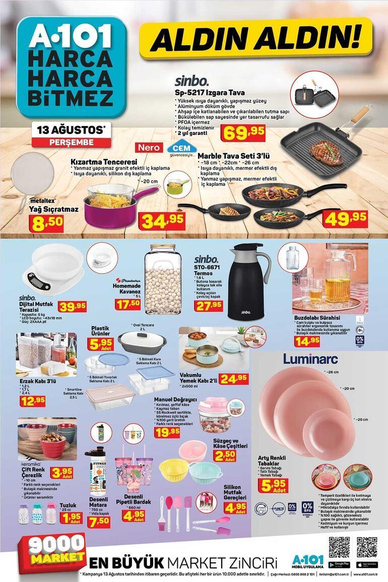 A101 aktüel kataloğu (13 Ağustos) A101 kataloğunda bu hafta hangi indirimli ürünler var