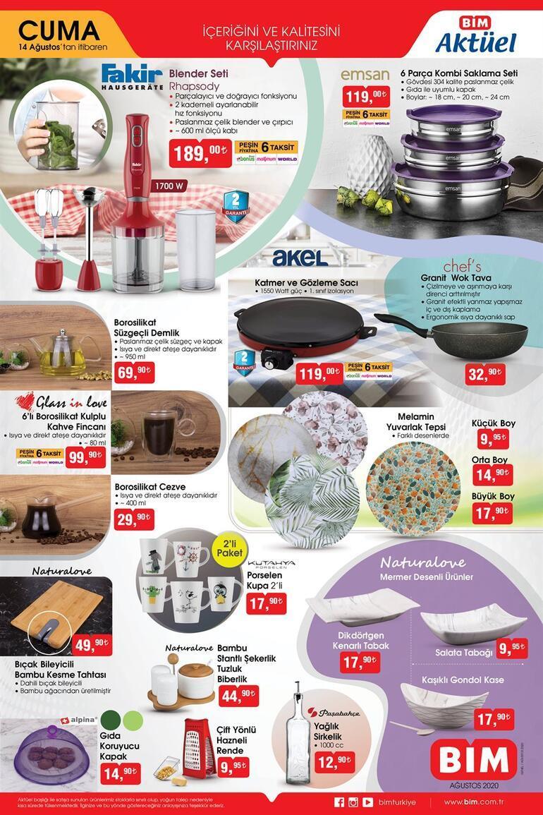 BİM aktüel ürünler kataloğunda bu hafta hangi ürünler var Aktüel ürünler kataloğunda yer alan ürünler bugün satışa çıktı