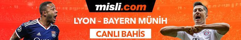 Lyon - Bayern Münih maçı Tek Maç ve Canlı Bahis seçenekleriyle Misli.com'da