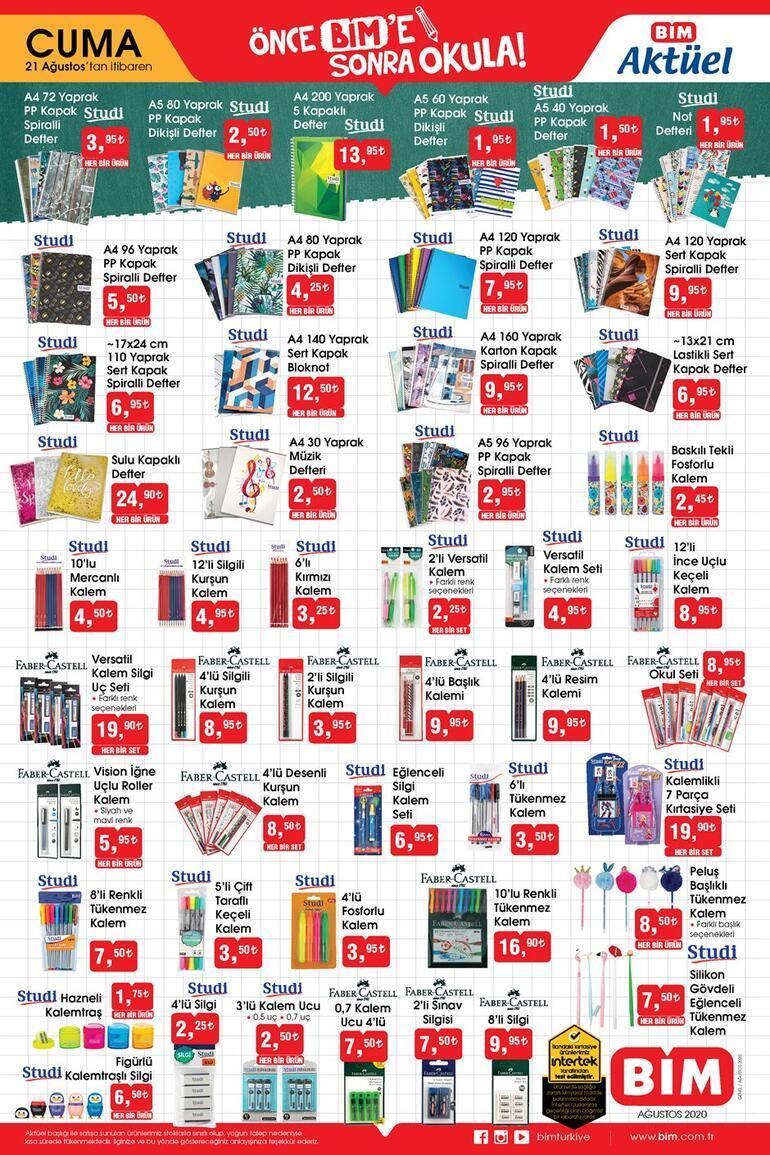 BİM mağazaları saat kaçta açılıyor 21 Ağustos BİM aktüel ürünler kataloğunda bu hafta neler var