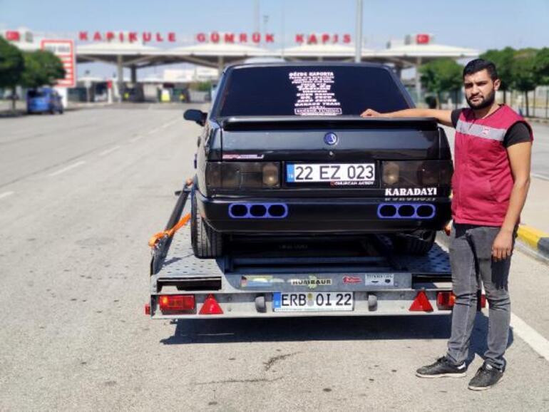 Modifiye edilen otomobili aldı, Almanyaya götürüyor