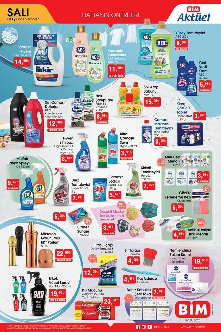 BİM saat kaçta açılıyor/kapanıyor BİM 8 Eylül aktüel ürünler kataloğu...