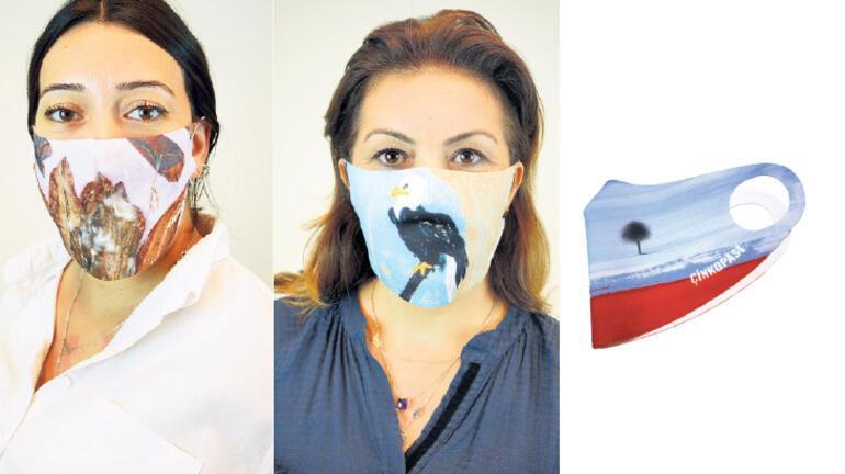 Maskeler sanat eserine dönüştü