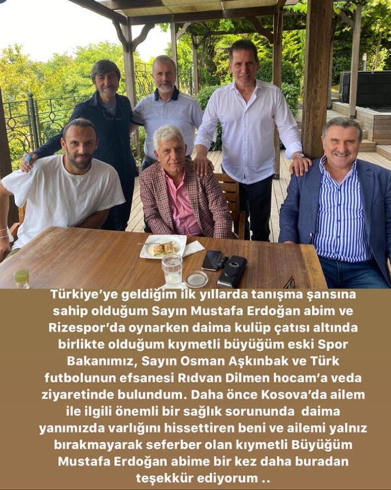 Fenerbahçede Vedat Muriçten veda mesajı