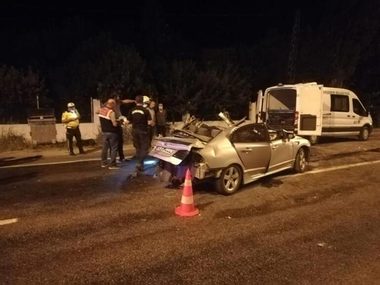 İzmir'de feci kaza: Geriye bu görüntü kaldı