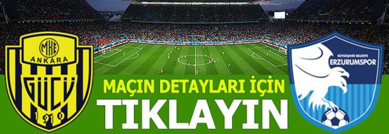 MKE Ankaragücü - Büyükşehir Belediye Erzurumspor: 1-2