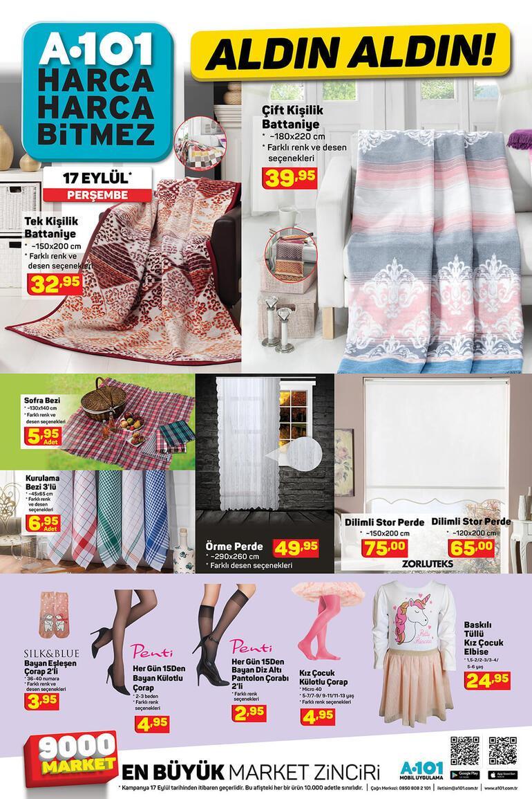 A101 aktüel ürünler kataloğunda yer alan ürünler satışa çıktı A101 17 Eylül kataloğunda hangi indirimli ürünler var