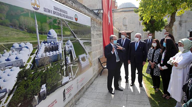 TBMM Başkanı Şentop ve Emine Erdoğan Edirnede ziyaretlerde bulundu