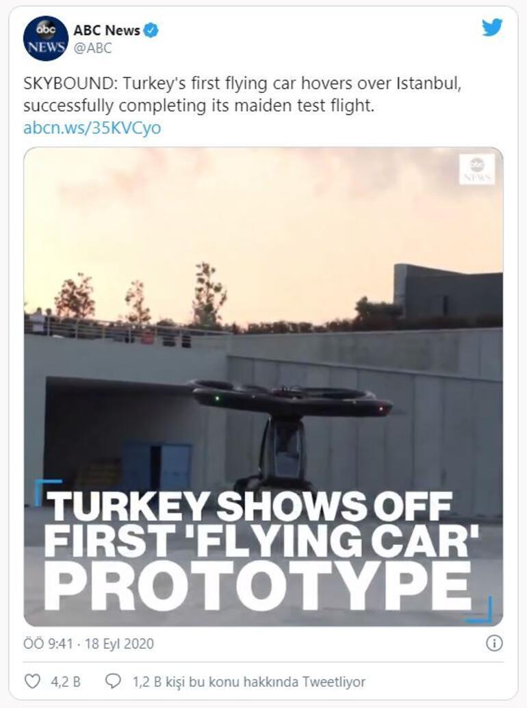 Dünya Türkiyenin ilk uçan arabası Cezeriyi konuşuyor