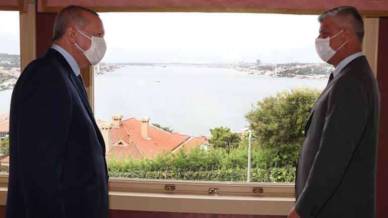 Cumhurbaşkanı Erdoğan, Kosova Cumhurbaşkanı Taci ile görüştü
