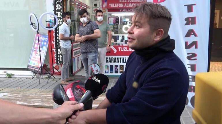 Tuzla'da maskesiz şahıstan polise tehdit Bana teşkilatın numarasını gönderin