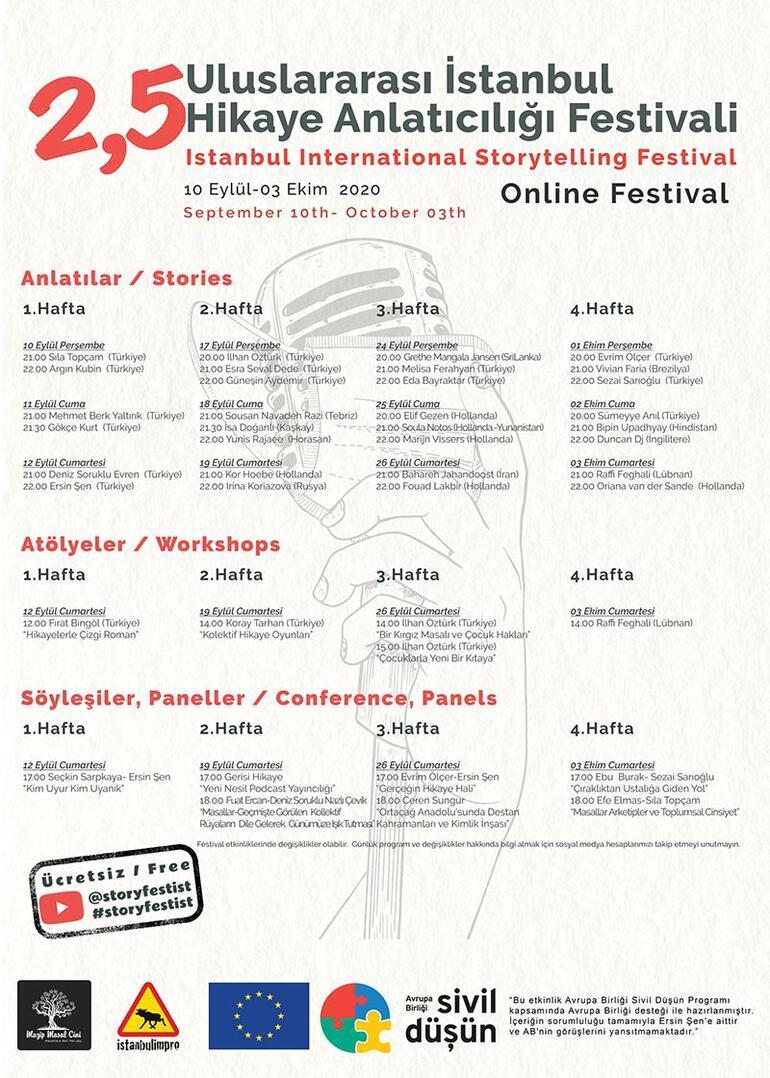 2.5 Uluslararası İstanbul Hikâye Anlatıcılığı Online Festivali başladı
