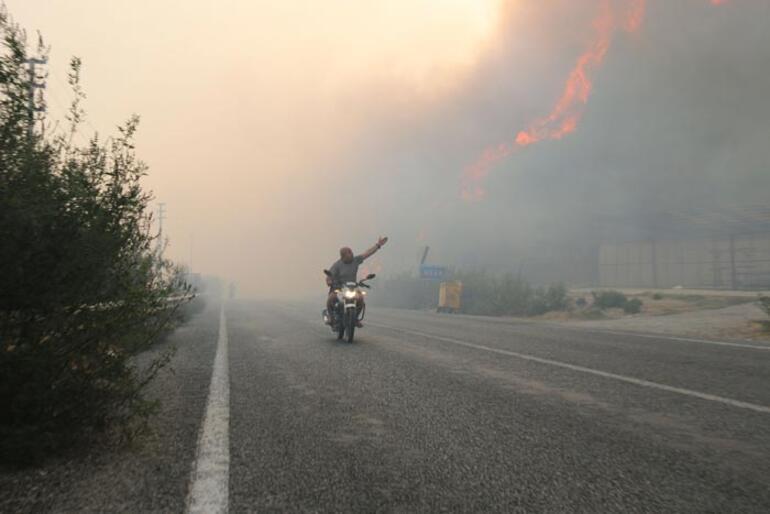 50 ev tahliye edildi Aydında korkutan yangın
