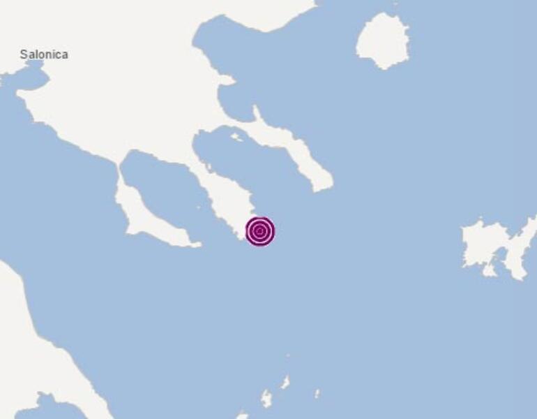 Son dakika: Ege Denizinde 5.3 büyüklüğünde deprem