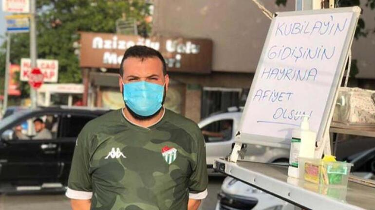 Bursaspordan ayrılan Kubilay için taraftar lokma döktürdü