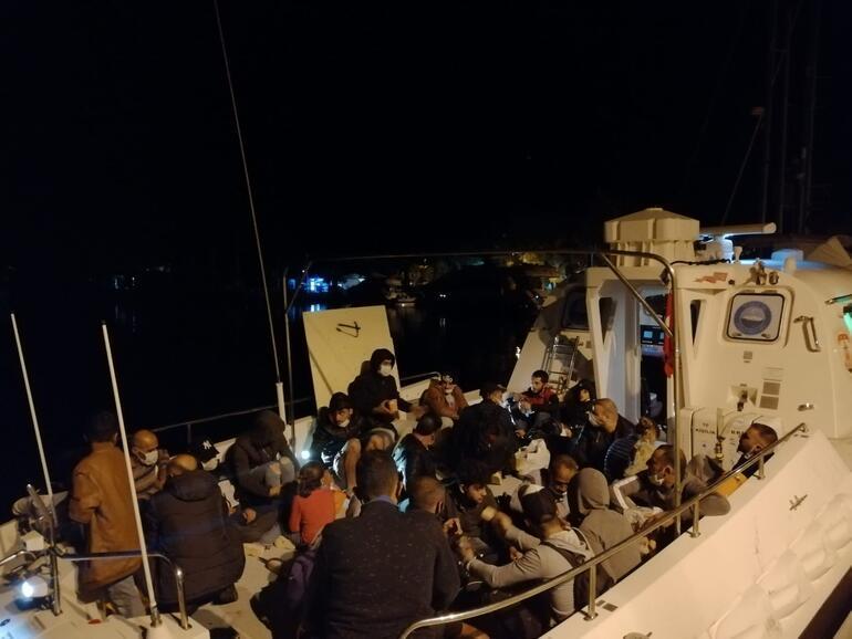Marmariste 87 kaçak göçmen kurtarıldı