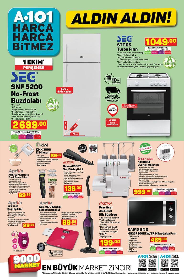 A101de bu hafta hangi ürünler var 1 Ekim A101 aktüel ürünler kataloğu...