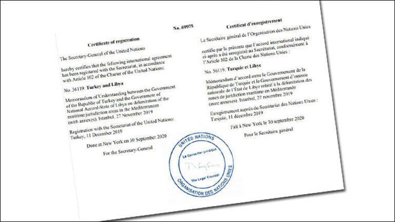 Son dakika BM, Türkiye ile Libya arasında yapılan anlaşmayı tescil etti