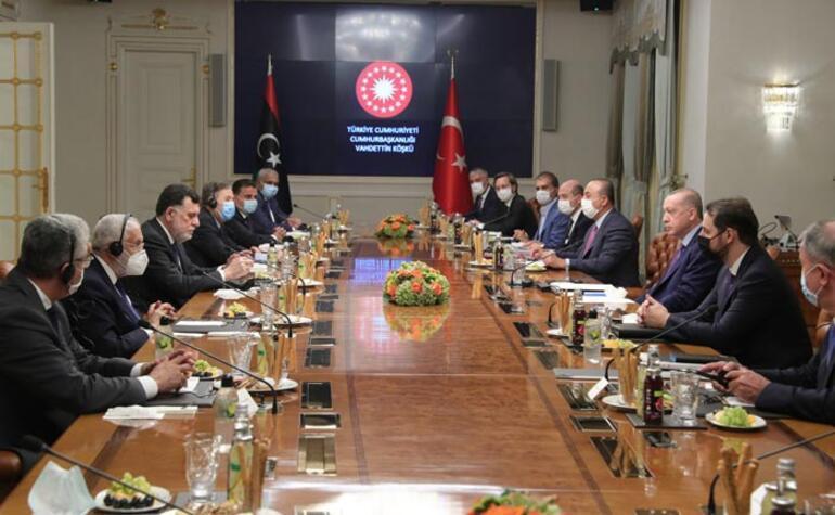 Kritik Libya görüşmesi Cumhurbaşkanı Erdoğan, Fayiz es-Serracı kabul etti